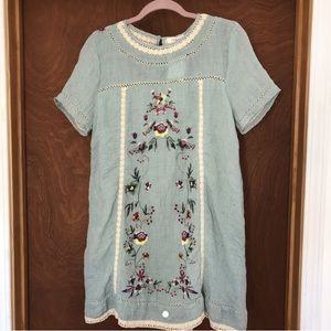 Blue floral embroidered Umgee Dress